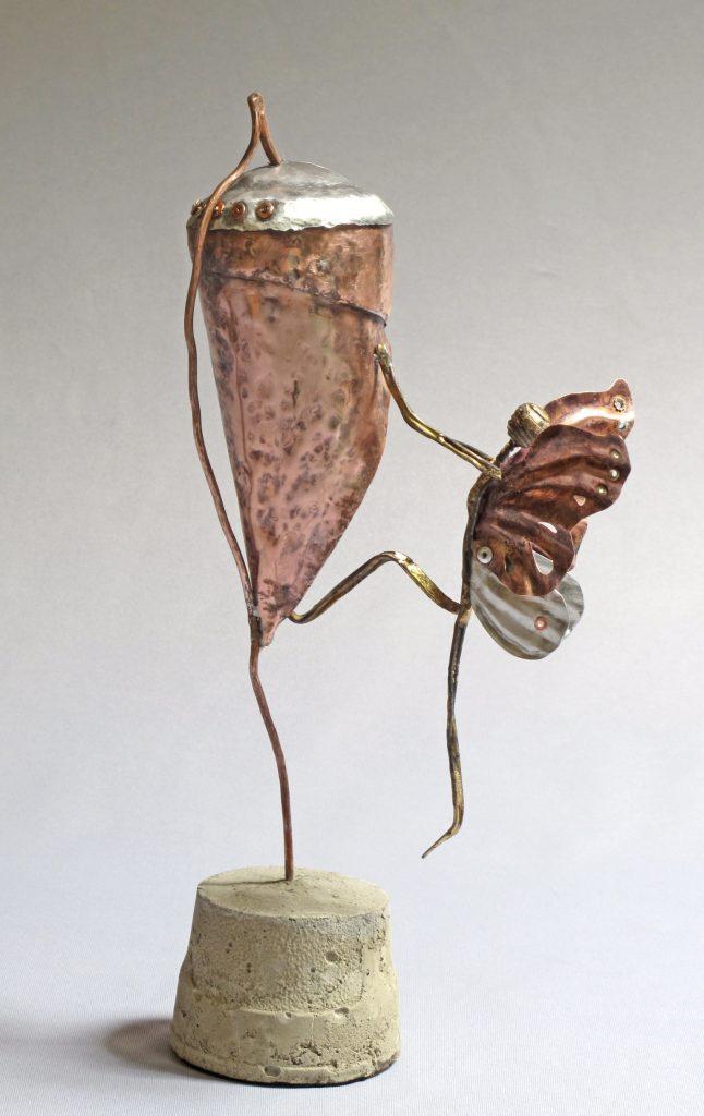 image of metal figure sculpture Change