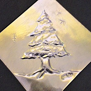 Tooled metal ornaments with Lynn Wartski.