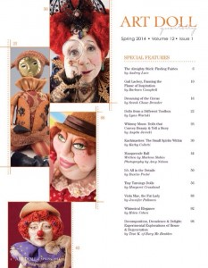 Art Doll Quarterly spring 2014 table of contents
