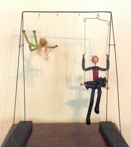 Display stand for hanging dolls