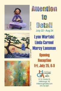 Postcard for July Featured Artists at HGA
