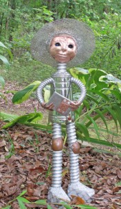 Garden art doll figure - Sow