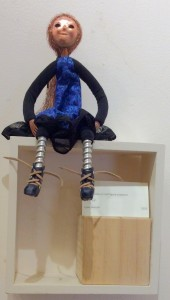 art doll Lily in gallery