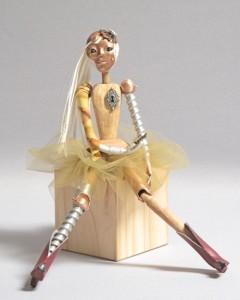 """mixed media art doll """"Media"""""""