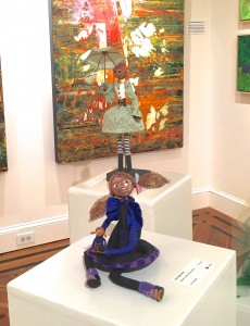 art dolls: Doll with Doll and Spring in Hillsborough Gallery of Arts