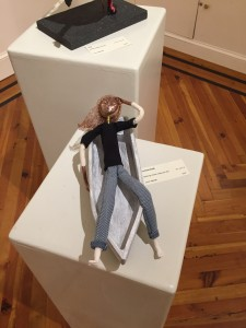 art doll Current drift in her boat