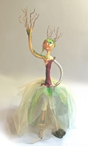 figurative art doll titled Mechanical Succession, experimentation in mixed media