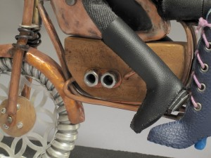 "close up of boots, and ""motor"""