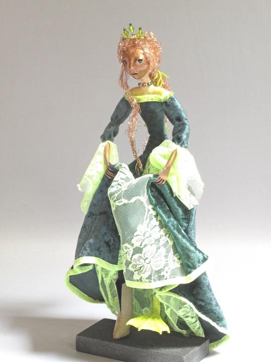 Vasilisa the frog princess wartski art dolls and sculpture for Frog transformation