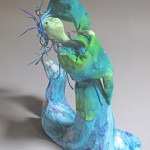 Standing figurative sculpture art doll Otohime