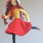 Image of iceskating art doll figure sculpture, Glide