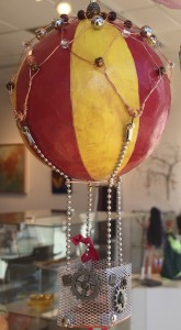Steampunk hot air balloon ornament