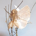 Art doll Delicate Landing mixed media figure sculpture