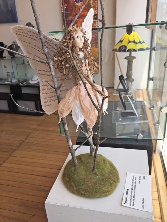 "art doll ""Delicate Landing"" by Lynn Wartski on display at HGA"