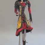 art doll figure sculpture titled Different Snow by Lynn Wartski