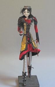 art doll figure sculpture titled Different Snow by Lynn Wartski