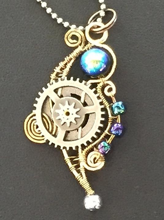 Steam Doodle pendant