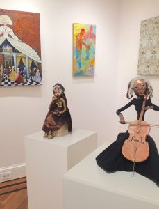 Cello and Secrets art dolls in feature show at HGA