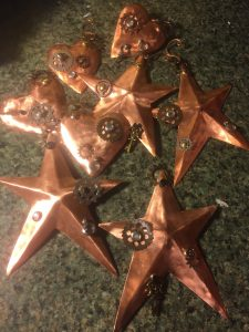 copper holiday ornaments