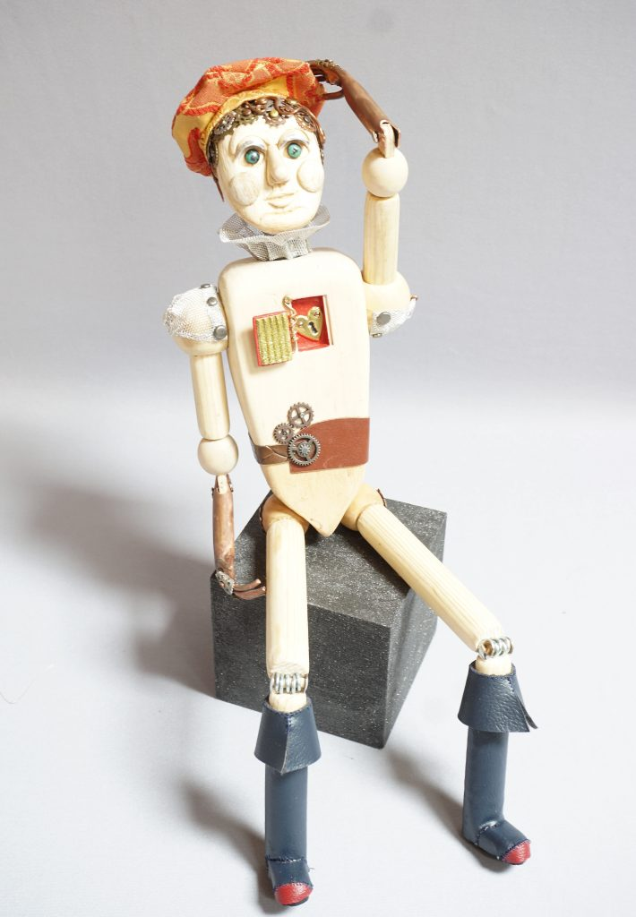 Full length view of Pinocchio art doll