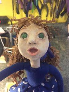 face of Balloon 2 art doll