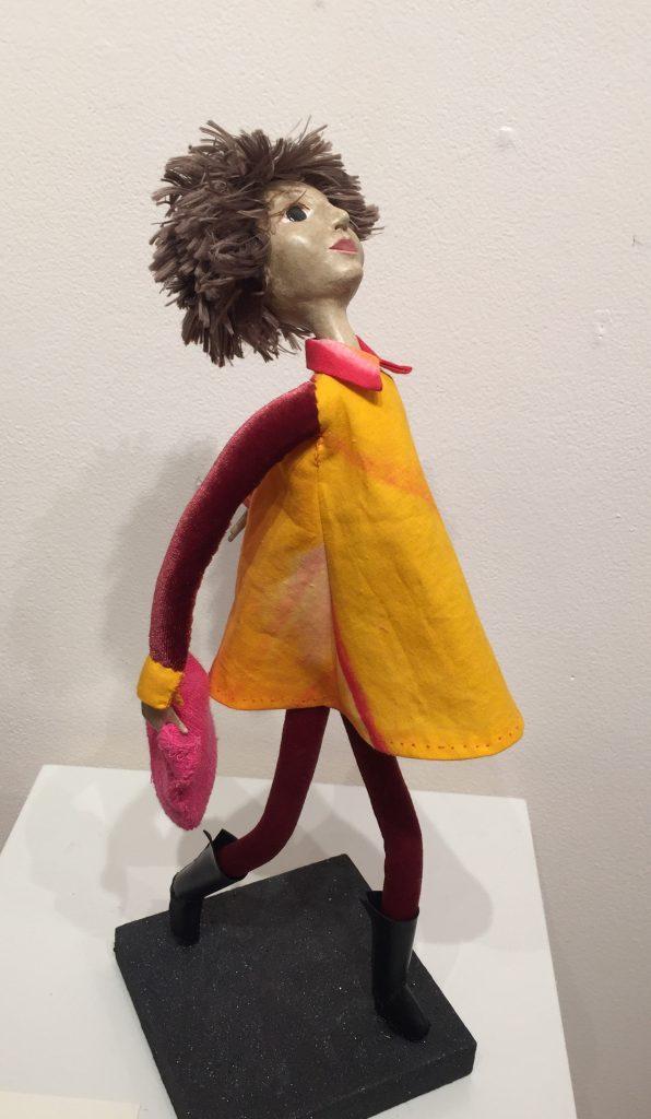 March-ed art doll figure sculpture