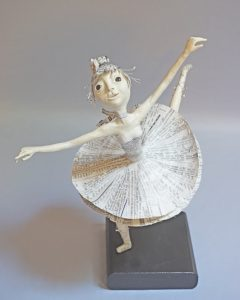 """Local Star"" mixed media art doll ballet dancer"