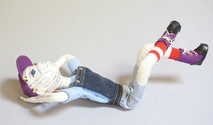 """Imagine"" art doll figure sculpture"