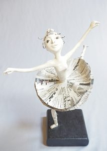 Local Star, Degas inspired art doll figure sculpture