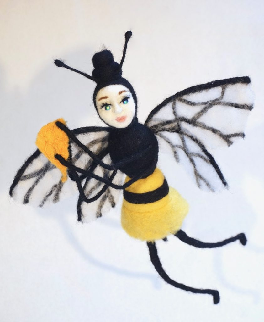 Honey Dance hanging art doll sculpture