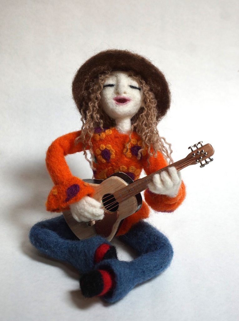 Protest Songs art doll