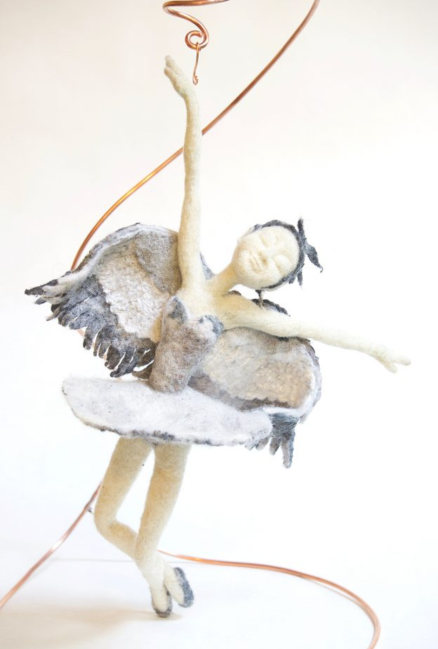 Tattered Swan art doll