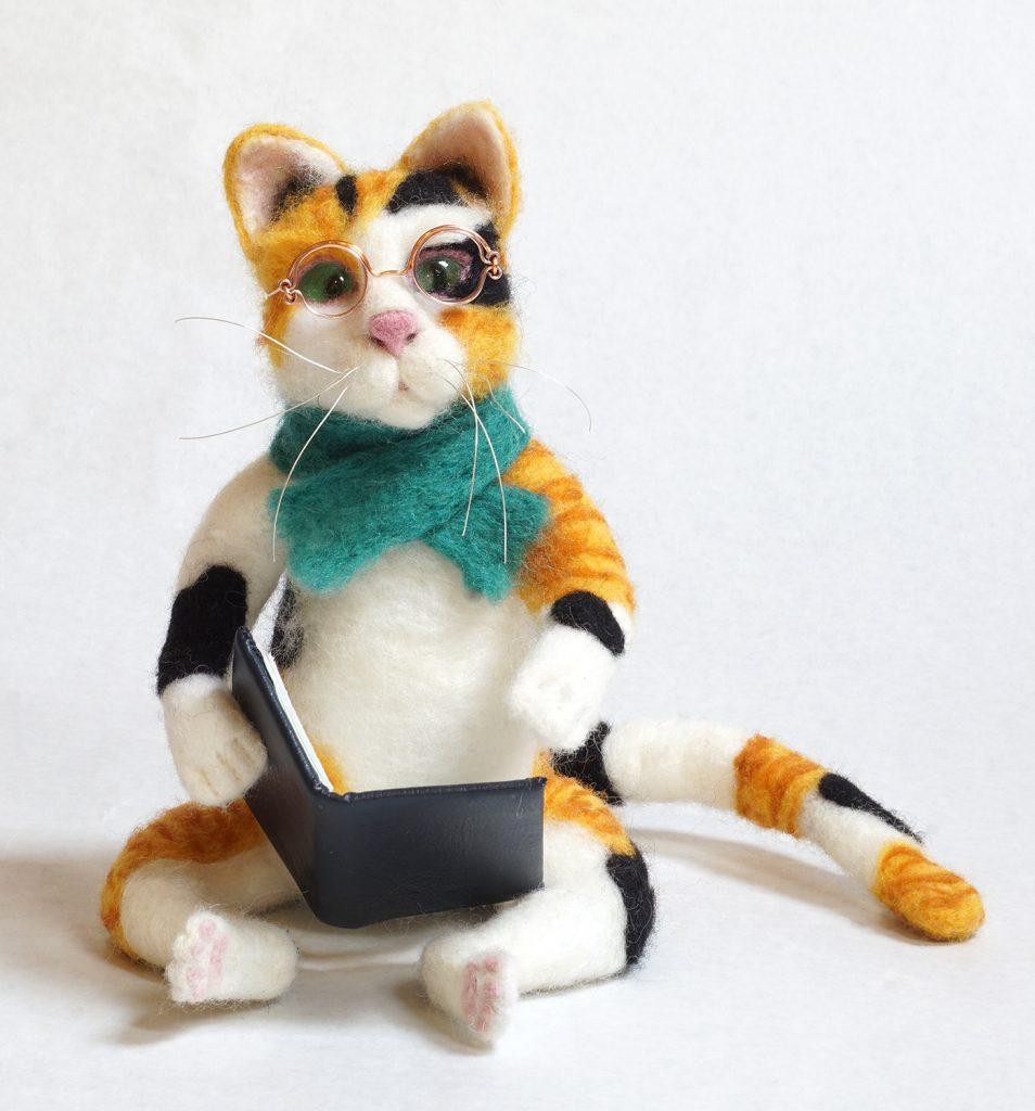 Literary Cat anthropomorphic art doll