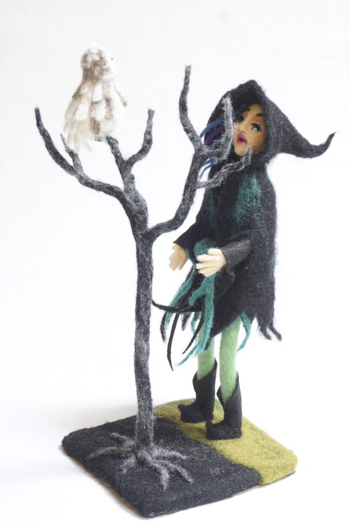 The Consult art doll with owl