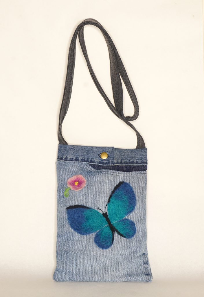 Blue Butterfly bag