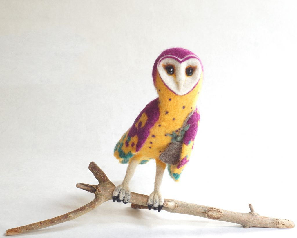 Wise and Magical anthropomorphic wise-woman owl sculpture