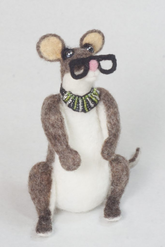 sculpture of an anthropomorphic mouse RBG,