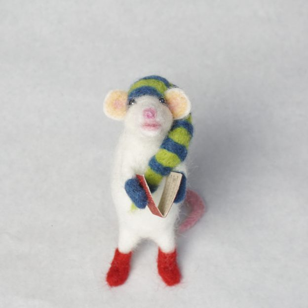 Mouse #1 with striped hat